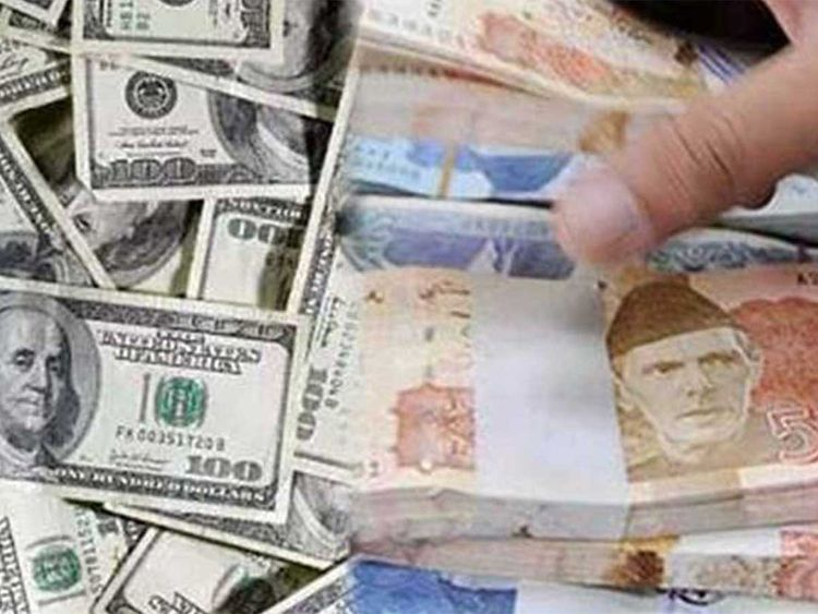The dollar dropped over 3 rupees