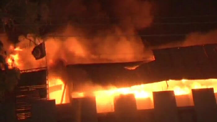 Karachi: A fire broke out in a 5-story factory